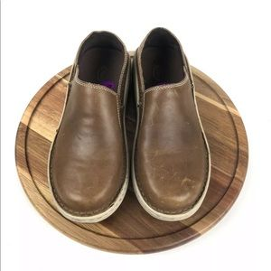 Womens Chacos Brown Leather Loafers 8.5 Vibram